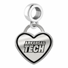 Arkansas Tech Wonder Boys/Golden Suns Border Heart Dangle Charm