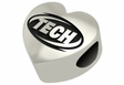 Arkansas Tech Golden Suns Heart Shape Bead