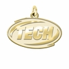 Arkansas Tech Wonder Boys (men)/Golden 14K Yellow Gold Natural Finish Cut Out Logo Charm