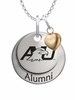 Ashland Eagles Alumni Necklace with Heart Accent