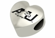 Ashland Eagles Heart Shape Bead