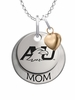 Ashland Eagles MOM Necklace with Heart Charm