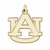 Auburn Tigers 14K Yellow Gold Natural Finish Cut Out Logo Charm
