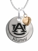 Auburn Tigers Alumni Necklace with Heart Accent