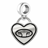 Auburn Tigers Border Heart Dangle Charm