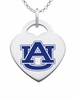 Auburn Tigers Color Logo Heart Charm