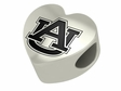 Auburn Tigers  Heart Shape Bead