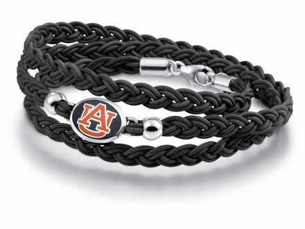 Auburn Tigers Leather Wrap Bracelet