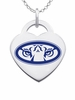 Auburn Tigers Logo Heart Pendant With Color