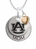 Auburn Tigers MOM Necklace with Heart Charm