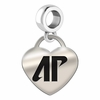 Austin Peay Heart Dangle Charm