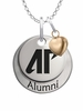 Austin Peay Governors Alumni Necklace with Heart Accent