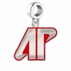 Austin Peay Governors Silver Logo and School Color Drop Charm