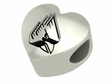 Ball State Cardinals  Heart Shape Bead