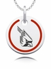 Ball State Cardinals Round Enamel Charm