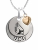 Ball State Cardinals MOM Necklace with Heart Charm
