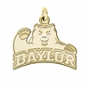 Baylor Bears 14K Yellow Gold Natural Finish Cut Out Logo Charm