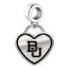 Baylor Bears Border Heart Dangle Charm