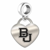 Baylor Bears Heart Dangle Charm
