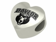 Baylor Bears  Heart Shape Bead