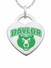 Baylor Bears Logo Heart Pendant With Color