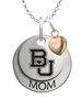 Baylor Bears MOM Necklace with Heart Charm