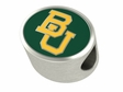 Baylor University Bears Enamel Bead