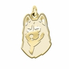 Bloomsburg Huskies 14K Yellow Gold Natural Finish Cut Out Logo Charm