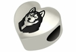Bloomsburg Huskies Heart Shape Bead