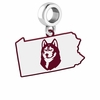 Bloomsburg Huskies Logo Dangle Charm