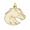 Boise State Broncos 14K Yellow Gold Natural Finish Cut Out Logo Charm