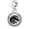 Boise State Broncos Border Round Dangle Charm