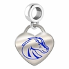 Boise State Broncos Color Heart Dangle