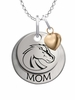 Boise State Broncos MOM Necklace with Heart Charm