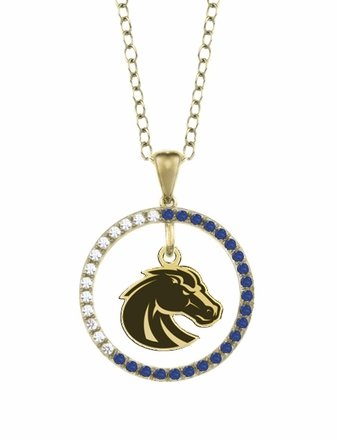 Boise State Broncos Sapphire and Diamond Necklace