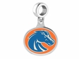 Boise State Broncos Silver Drop Charm