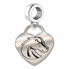 Boise State Broncos Heart Dangle Charm