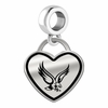 Boston College Eagles Border Heart Dangle Charm