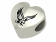 Boston College Eagles  Heart Shape Bead
