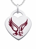 Boston College Eagles Logo Heart Pendant With Color