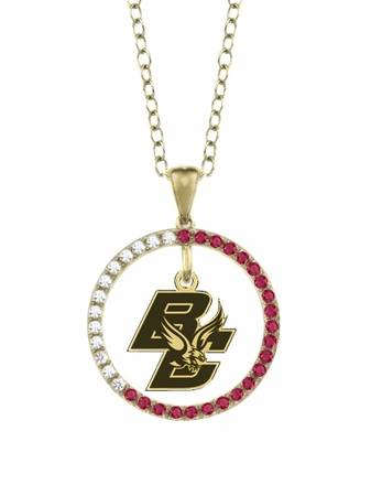 Boston College Eagles Ruby and Diamond Necklace