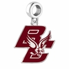 Boston College Eagles Silver Logo and School Color Drop Charm