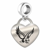 Boston College Eagles Heart Dangle Charm