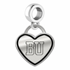 Boston Terriers Border Heart Dangle Charm