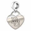 Boston Terriers Heart Dangle Charm