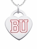 Boston Terriers Logo Heart Pendant With Color