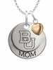 Boston Terriers MOM Necklace with Heart Charm