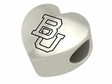 Boston University Terriers  Heart Shape Bead