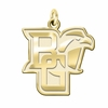 Bowling Green Falcons 14K Yellow Gold Natural Finish Cut Out Logo Charm