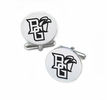 Bowling Green Falcons Cufflinks Stainless Steel Round Top